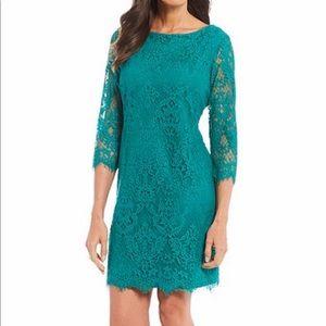 Jessica Howard 3/4 Lace Shift Dress